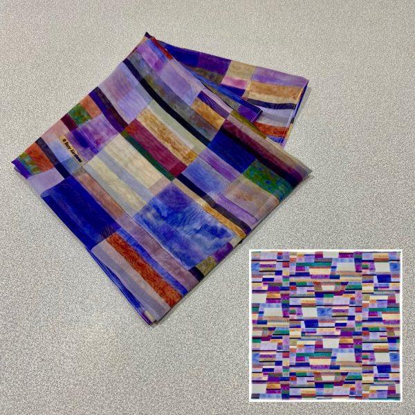 Colour line & Form Composition No.1 Scarf Design View