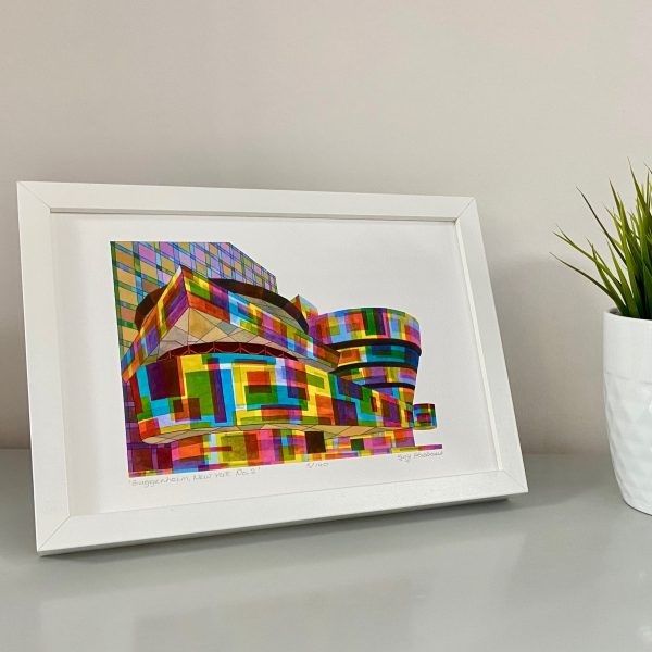 Guggenheim New York No.2 Actual Print Framed on Stand