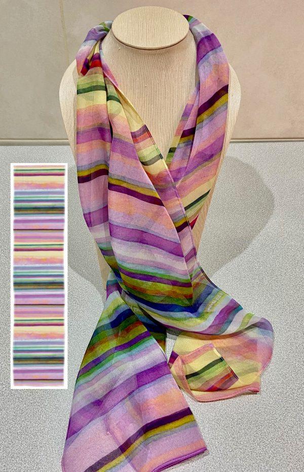 Linear Rhythms No.1 scarf design view