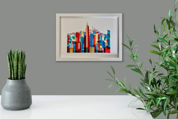 Manhattan Impressions No.1 Actual Framed Print in Room 2