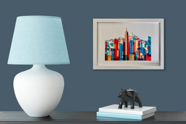 Manhattan Impressions No.1 Actual Framed Print in Room 1