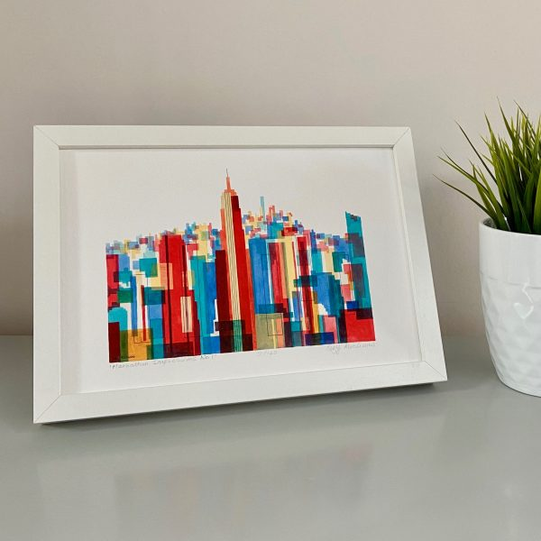 Manhattan Impressions No.1 Actual Print Framed on Stand