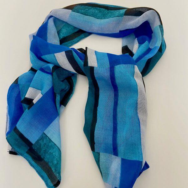 Stripes Blue Scarf
