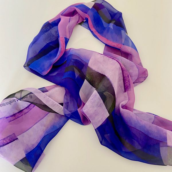 Stripes Purple Scarf