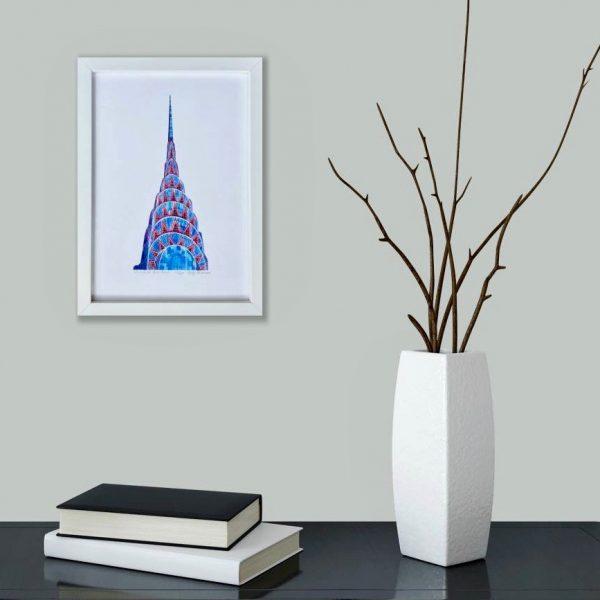 Chrysler Building Print in room 2