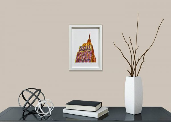 Empire State Building Print in room 1