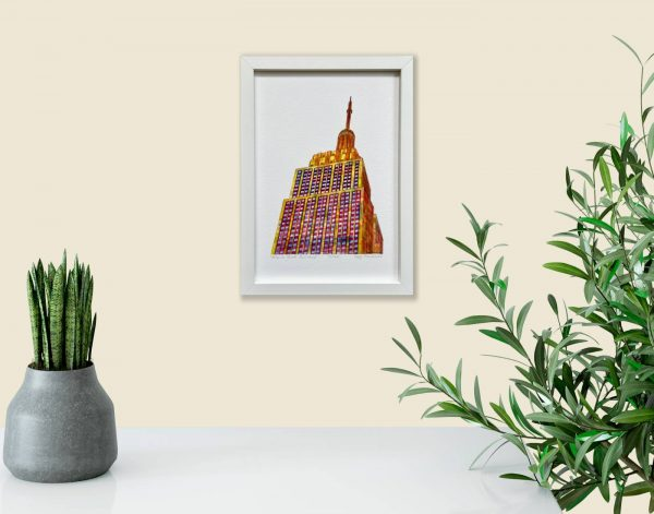 Empire State Building Print in room 2