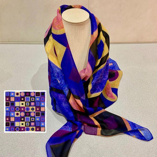 Homage II to Klimt scarf view 1