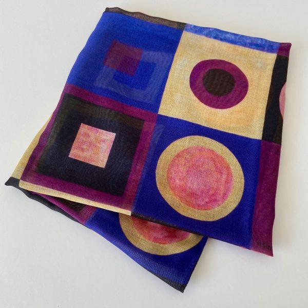Homage III to Klimt scarf view 3