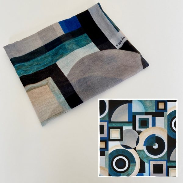 Key Elements Composition No.1 Scarf Malmul Soft Muslin design view