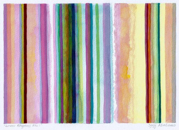 Linear Rhythms No.1 Unframed