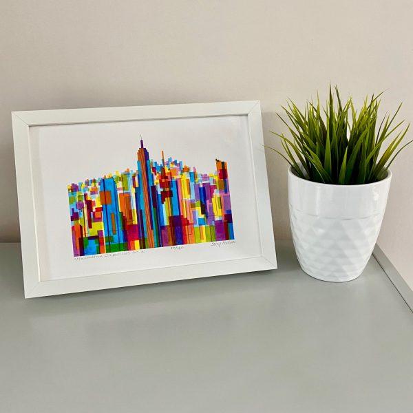 Manhattan Impressions No.2 Print on shelf