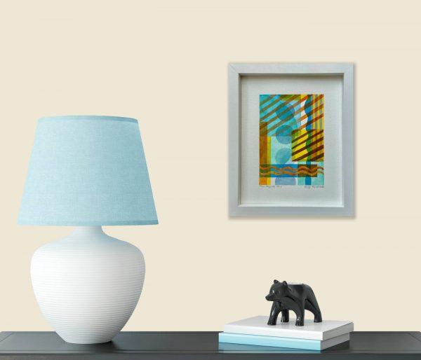 Mini Rhythms No.4 Framed in room 1