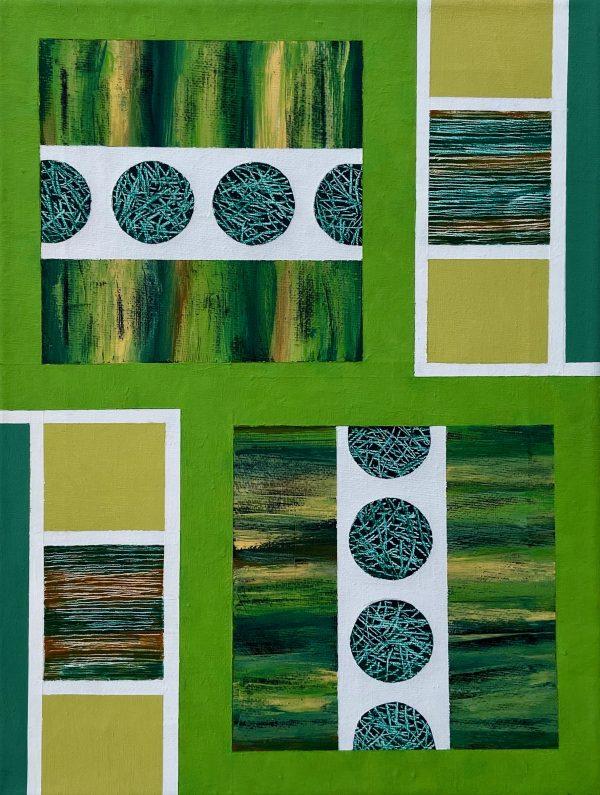 Mini Textural Elements No.4 Unframed