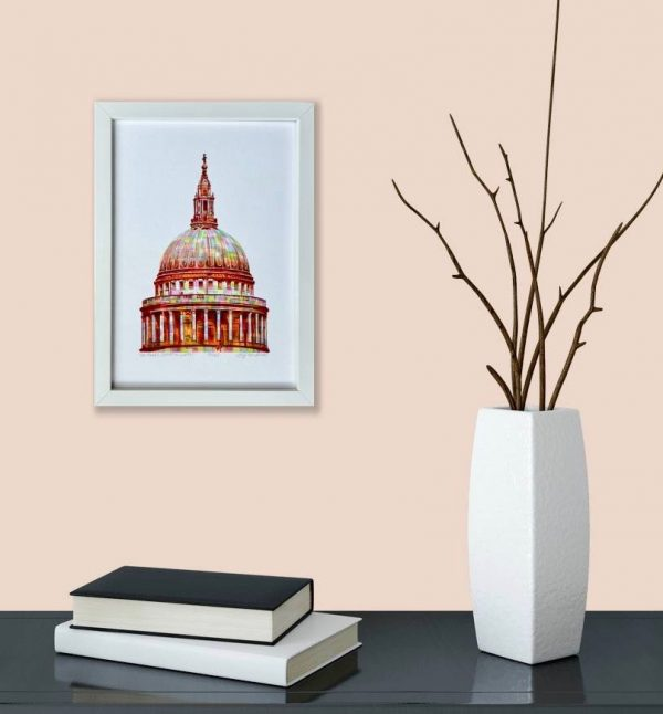 St Paul's Cathedral Print in room 2