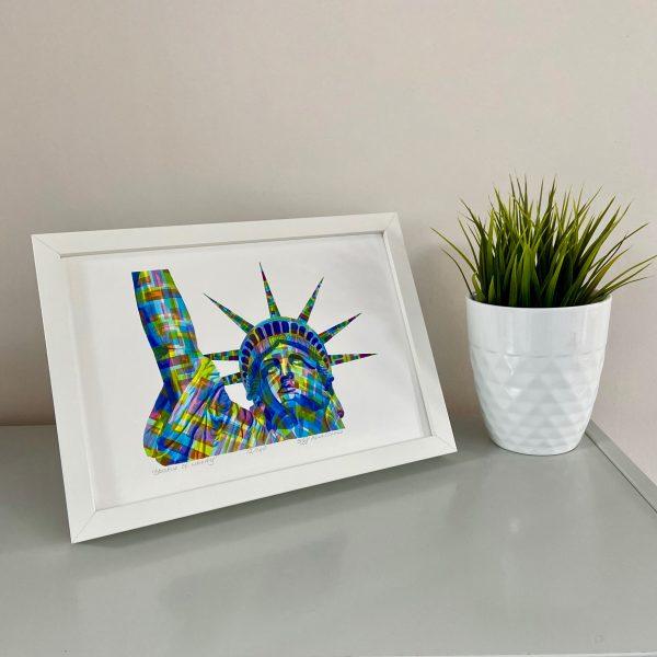 Statue of Liberty Print on shelf