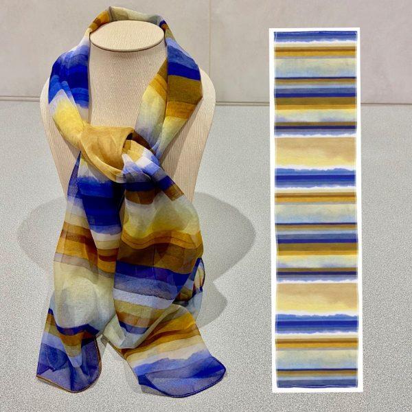 Linear Rhythms No.4 scarf Design View