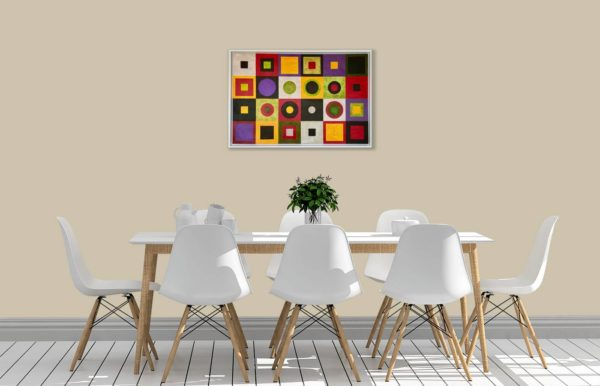 Homage II to Klimt in Dining Area